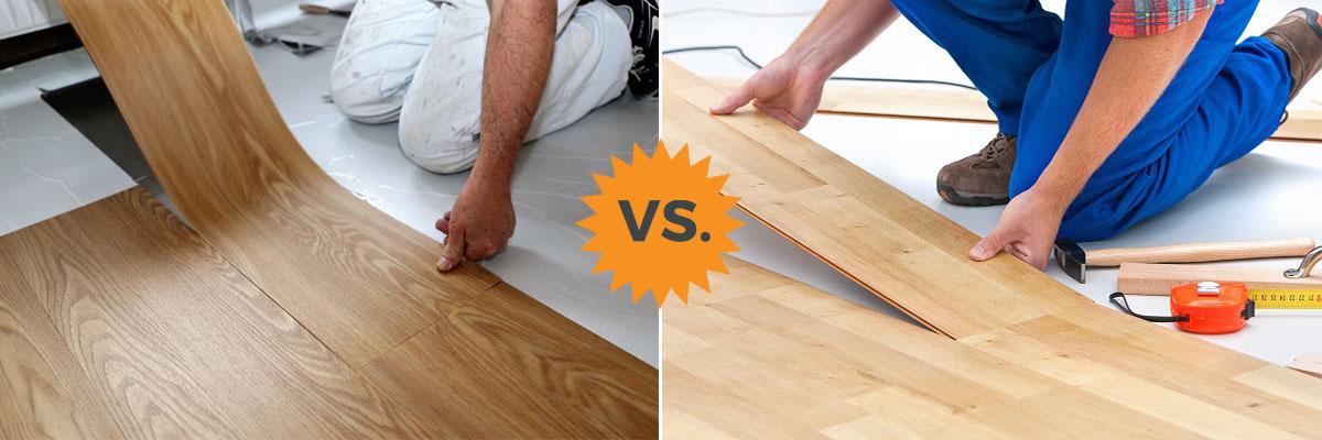 Vinyl Vs Laminate Flooring Basement, Vinyl Plank Flooring Versus Laminate