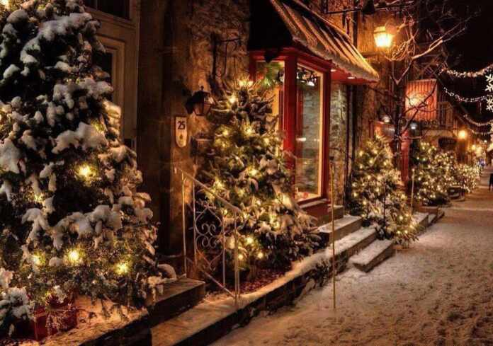 Christmas with wonderful decorations